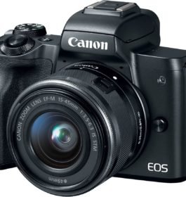 Canon EOS M50 Mirrorless Camera Kit w/EF-M15-45mm and 4K Video – Black